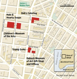Hudson Square map - Dahesh Museum of Art Gift shop