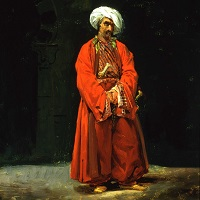 Vernet Man In An Oriental Costume