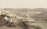 Roberts Jerusalem From The Mount Of Olives 184x114