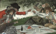 Tissot Sketch For La Partie Carree 184x114
